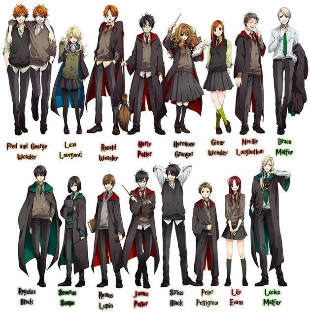 Harry Potter Cartoon Characters