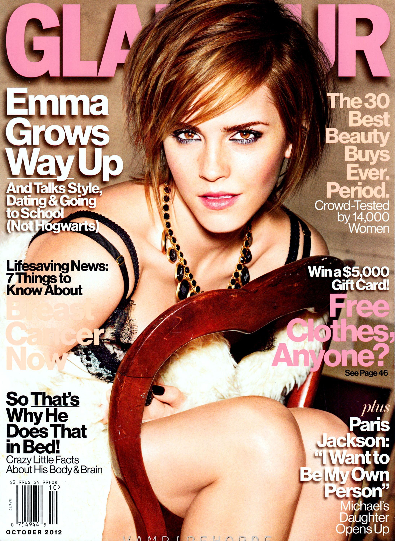 """Emma Watson en las Revistas """"Glamour"""" – Octubre 2012"""