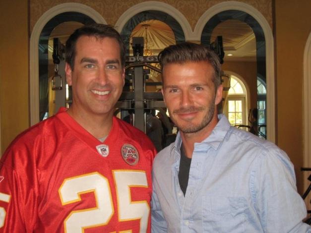 David con Rob Riggle