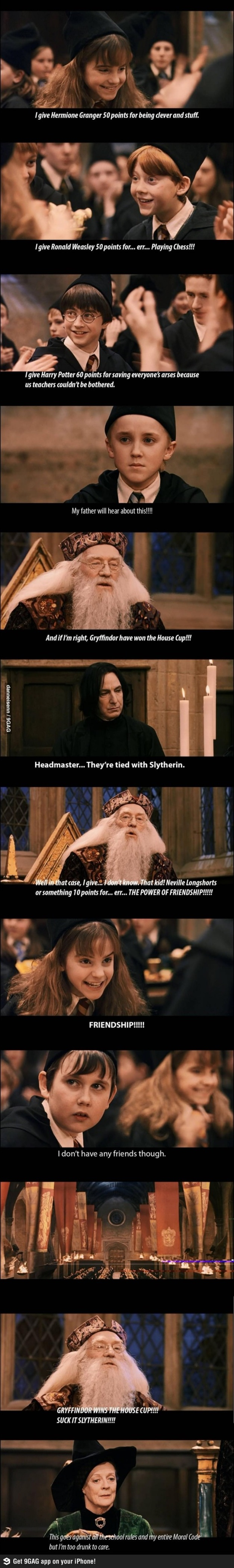 SLYTHERIN WINS THE CUP.