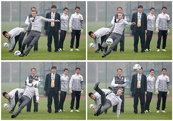 BECKHAM EN CHINA - TROPEZON