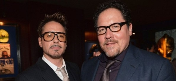 Jon Favreau y Robert Downey Jr.