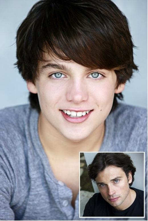 Dylan Sprayberry Y Tom Welling - Hombre de Acero - Adolescente