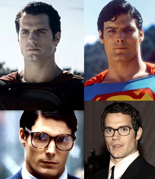 HENRI CAVILL Y Christopher Reeve