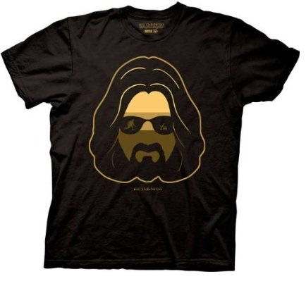 The Big Lebowski Dude Silhouette Scene Mens T-shirt