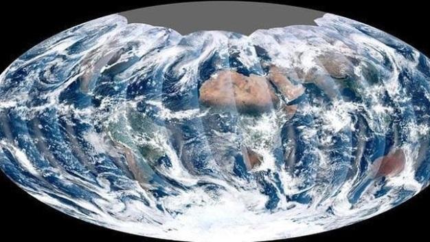 Imagen completa de toda la Tierra fotografiada por VIIRS en 2012