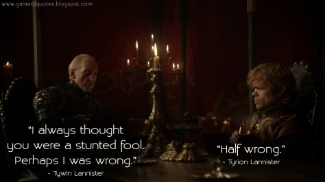 TYWIN LANNISTER - TYRION LANNISTER